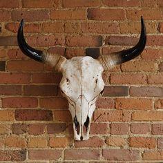 Refresh your home for less. Bull Skull Tattoos, Bull Skulls, Skull Tattoo Design, Animal Skulls, Cow Skull Decor, Skull Art, Western Decor, Western Art, Tatoo Crane