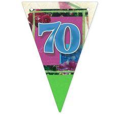 70th birthday bunting banner