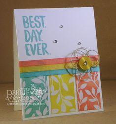 Control Freaks February Blog Hop. Stampin' Up!  Best Year Ever stamp set. Debbie Henderson, Debbie's Designs.