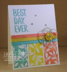 Control Freaks February Blog Hop. Stampin' Up! Best Year Ever stamp set. Debbie Henderson, Debbie's Designs.