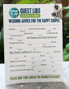 wedding advice mad lib style