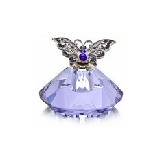 Purple Butterfly Perfume Bottle with Crystals - Personalized Bridesmaid Gifts - Wedding Party Gifts found on Polyvore