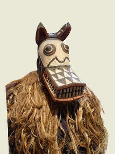 Spotted hyena mask from Burkina Faso
