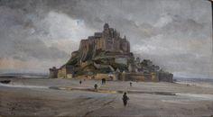 Michel Bernard XXeme Vue du Mont Saint Michel Le Mont St Michel, Saints, Art, Painters, Brittany, Art Background, Kunst, Art Education