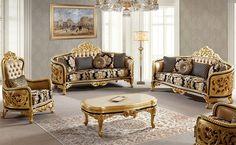 Classic Sofa Sets - Luxury Seat Models - Turkish Sofa Sets Types Of Furniture, Classic Furniture, Furniture Styles, Sofa Furniture, Luxury Furniture, Vintage Furniture, Furniture Design, Sofa Set Designs, Sofa Design