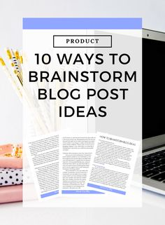 10 Ways To Brainstorm Blog Post Ideas | Feeling stuck when it comes to writing blog post content. For just $5 you can purchase my ebooklet all about brainstorming blog post ideas so that you never run out of things to talk about on your blog. // Amanda Cross Blog