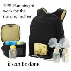 TIPS: Pumping at work for the nursing mother - advice from a mom who's been there!