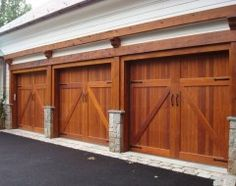 Sleek Glass and Wood Garage Doors Have Appeal Both Outdoors and In