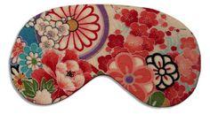 Bona Notti Luxury Silk Sleep Mask Kimono Turquoise by BonaNotti