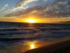 Sunset Santa Monica Beach, Los Angeles, USA #roadtrip