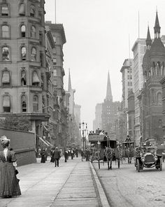 5th Avenue near 42nd Street, New York, 1912. I looked at the same location on…