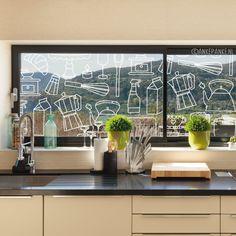 Vrolijke doodles #raamtekening, leuk voor op de ramen van de keuken!