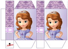 Princess Sofia Party, Princess Birthday, Sofia The First Birthday Party, Baby Birthday, Barbie Miniatures, Islam For Kids, Charts For Kids, Diy Gift Box, Doll Crafts