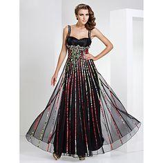 teaca / coloana iubita podea-lungime tul și se întind satin rochie de seară – EUR € 109.08