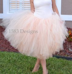 FULL Custom Made Basic Tutu Skirt  For ADULTS and by 1583Designs, $49.99