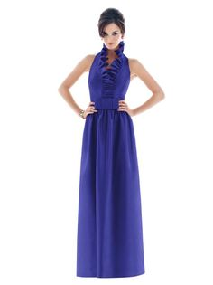 Love the ruffle neckline and the flat bow at the waist