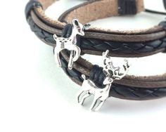 His and Hers Bracelets - His Doe, Her Buck Couples Jewelry by Etsy Shop SpotLightJewelry