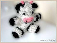 Бычок (корова), связанный крючком, описание модели, пример вязания