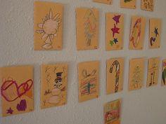 Kids drawing advent calendar