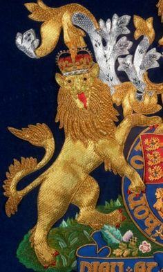 Royal Crest - detail goldwork