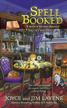Spell Booked (Retired Witches Mysteries) by Joyce Lavene, http://www.amazon.com/dp/B00JJXV1AM/ref=cm_sw_r_pi_dp_LC6rub05193AD