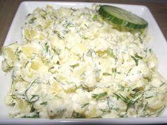 Sałatka norweska do grilla   Szybka, smaczna sałatka ziemniaczana, która najlepiej smakuje przy grillu do pieczonego mięska, kiełbaski i z... Potato Salad, Grilling, Salads, Potatoes, Rice, Eat, Ethnic Recipes, Dressing, Crickets
