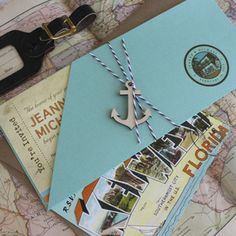 Key West Boarding Pass Wedding Invitation (Hemingway House)