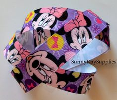 Disney Ribbon, Minnie Mouse Grosgrain Ribbon in Pink and Purple -  1 yard - 1 inch wide on Etsy, $2.89