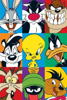 Looney Tunes - Bugs Bunny, Sylvester, Tazmanian Devil, Pepe Le Pew, Tweetie Pie, Daffy Duck - oh my god ... fantastic photo... wow ... i like ... i love ,,,
