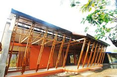 Bamboo Storm Structures - This Hardy School by Eleena Jamil is Built to Bamboozle Storms