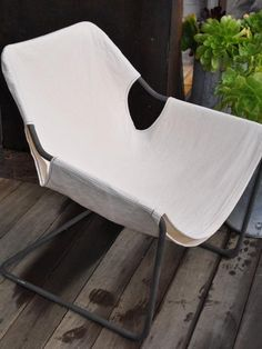 DIY: Paulistano Armchair with White Canvas Cover by Allison Bloom