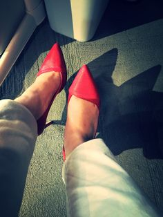 Friday red shoes #calvinklein #red #shoes