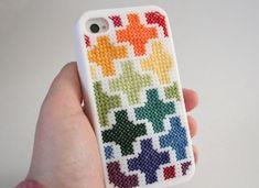 Cross-Stitch Phone Case   28 Adorable DIY GadgetCases