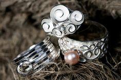 3 zilveren ringen uit de collectie van Nicoline van Boven www.nicolinevanboven.com