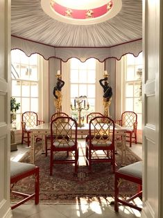 The Most Amazing English Country House Of Them All - laurel home - phenomenal Chinoiserie Dining room of Anthony and Harriet Coone Sykes in Dorset, UK