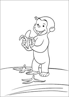 coloring page Curious George - Curious George