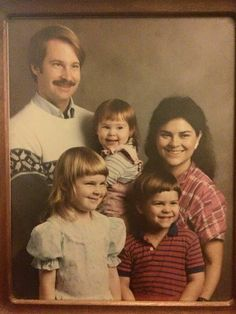 """""""Herself"""" and family ~ a younger Diana Gabaldon, author of the Outlander Series of books"""