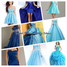 Blue Sweet Sixteen Dress Ideas