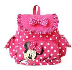 Pink Backpack for Little Girls Minnie Mouse Purse Backpack | Rudelyn's Sari Sari Store