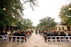 Courtyard ceremony   Early October Wedding   Lady Bird Johnson Wildflower Center   Austin, TX   Lissa Anglin Photography