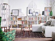 Une bibliothèque à mi-hauteur