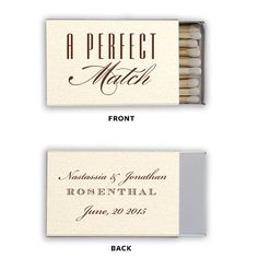 The PERFECT MATCH! Personalized Wedding Matches Matchbook Match Book Triangle Matches Custom Printed Lots of Colors and Designs