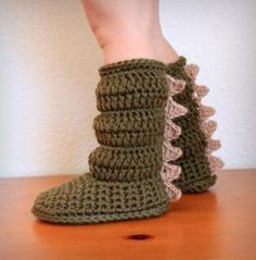 Toddler Cozy Crochet Boots - Knitting Patterns by Holly Mock