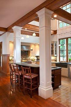 kitchen islands with columns | kitchen islands with pillars | Kitchens With Columns Design Ideas ...