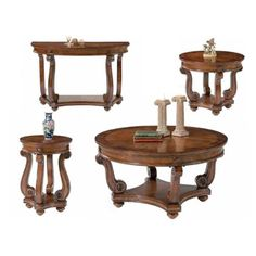 VICTORIAN MANOR ROUND COFFEE TABLE - DARK CLASSIC CHERRY  - Click image twice for more info - See a larger selection of round coffee tables at http://zcoffeetables.com/product-category/round-coffee-table/- home, home decor, home ideas, home furniture, office furniture, table, gift ideas, living room, patio,garden, outdoor living