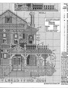 HALE HOUSE 02 Cross Stitch House, Cross Stitch Boards, Cross Stitching, Cross Stitch Embroidery, Cross Stitch Patterns, Modern Embroidery, Embroidery Patterns, Hale House, Cross Stitch Geometric