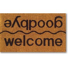Showcasing bold typography, this charming coir doormat offers a delightful touch whether your guests are coming or going. Product:
