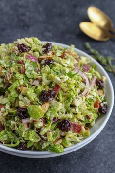 Shredded Brussels Sprouts with Citrus Vinaigrette - this paleo salad is not skimping on any flavor. I'm in love with the vinaigrette!