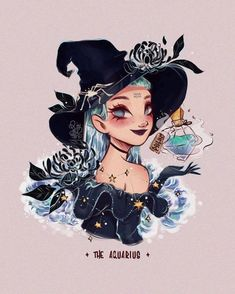 Character Inspiration, Character Art, Character Design, Witch Drawing, Zodiac Characters, Witch Art, Witch Aesthetic, Zodiac Art, Cartoon Art Styles