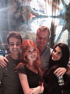Alberto, Katherine, Emeraude and McG on the set,